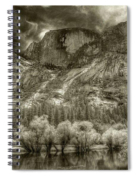 Half Dome Over Mirror Lake Spiral Notebook