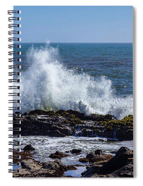 Wave Crashing On California Coast 1 Spiral Notebook