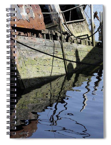 Half Sunk Boat Spiral Notebook