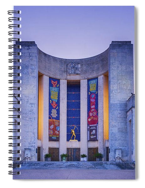 Hall Of State Texas Spiral Notebook