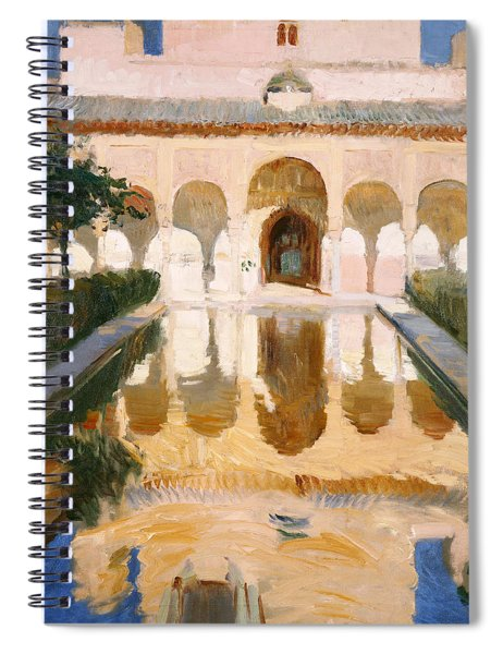 Hall Of The Embassadors Alhambra Granada Spiral Notebook
