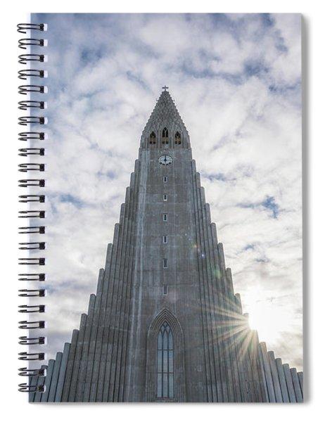 Hallgrimskirkja Sunburst Spiral Notebook