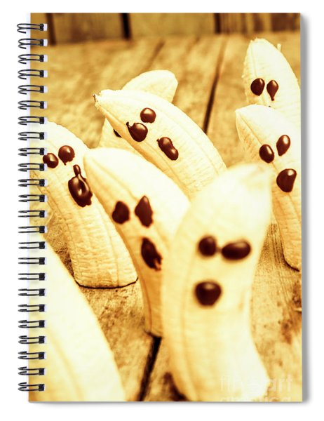 Halloween Banana Ghosts Spiral Notebook