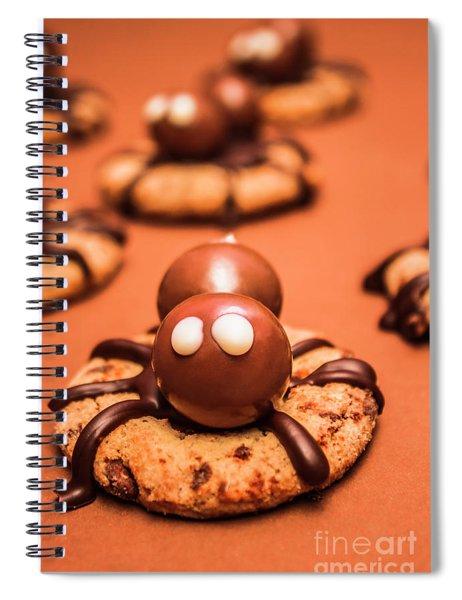 Halloween Homemade Cookie Spiders Spiral Notebook