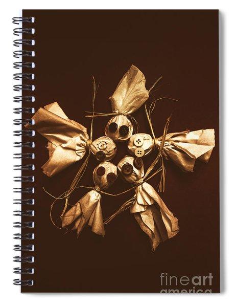 Halloween Horror Dolls On Dark Background Spiral Notebook