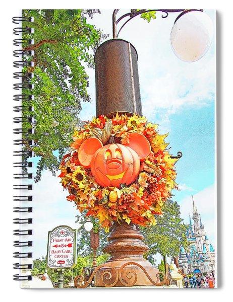 Halloween In Walt Disney World Spiral Notebook
