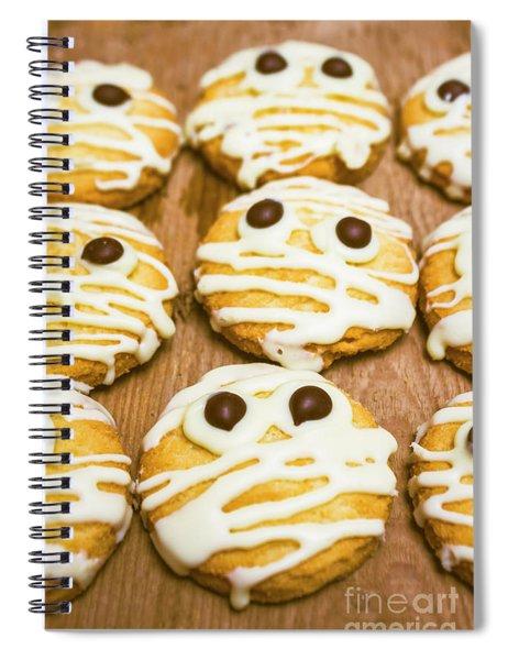 Halloween Little Monster Biscuits Spiral Notebook