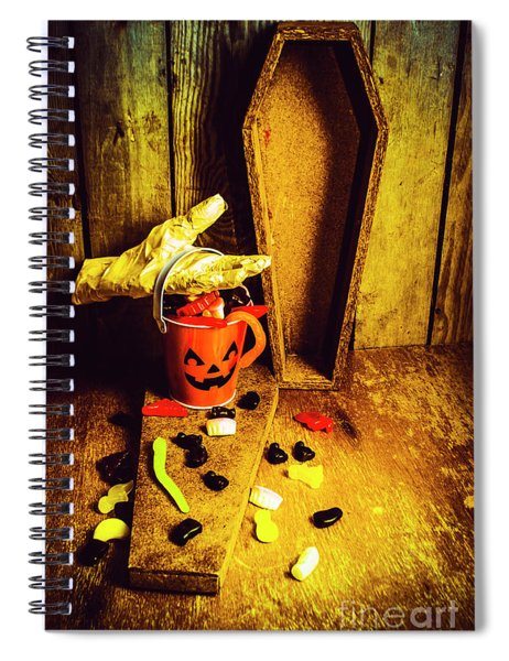 Halloween Trick Of Treats Background Spiral Notebook