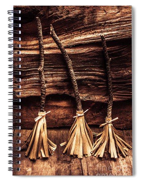 Halloween Witch Brooms Spiral Notebook