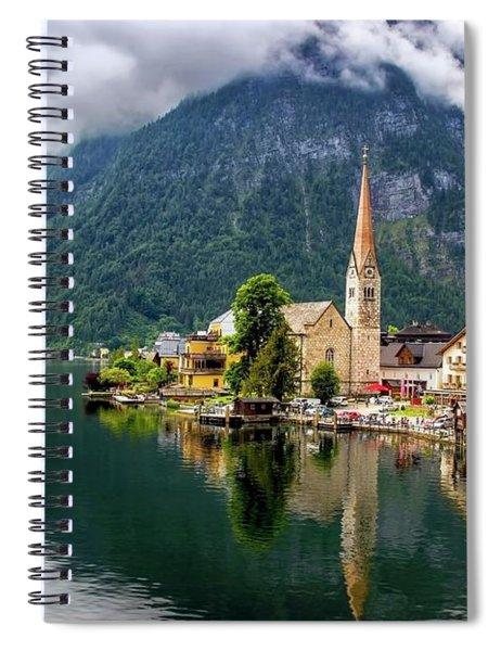 Hallstatt Across The Lake, Austria  Spiral Notebook