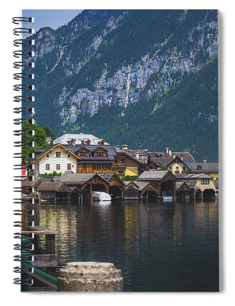 Hallstatt Lakeside Village In Austria Spiral Notebook