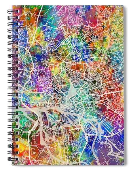 Hamburg Germany City Map Spiral Notebook