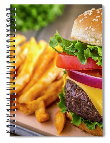 Hamburger And Fries Spiral Notebook