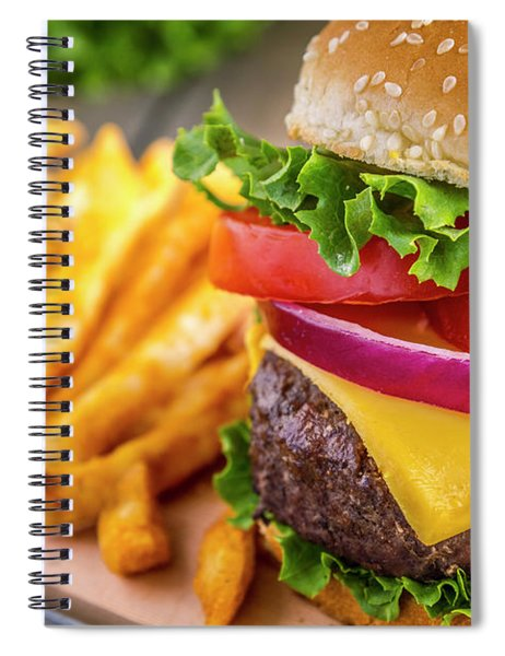 Hamburger Close Up Spiral Notebook