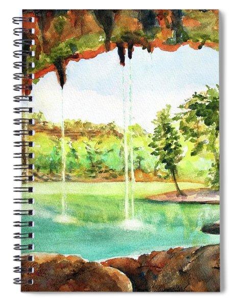 Hamilton Pool Texas Spiral Notebook