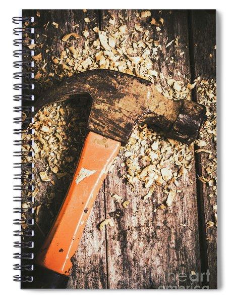 Hammer Details In Carpentry Spiral Notebook