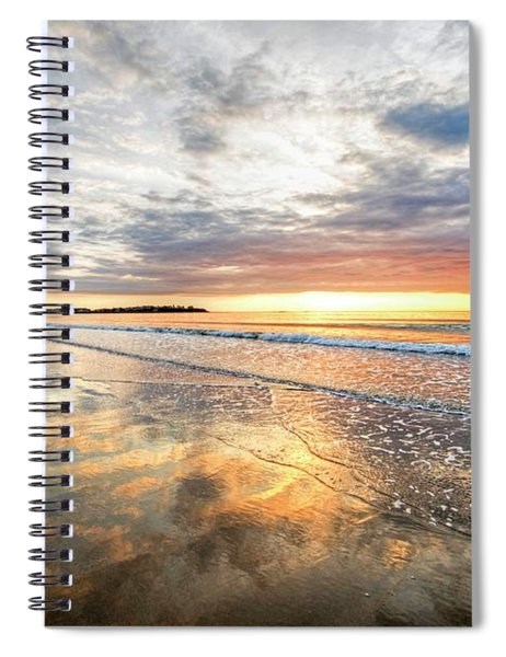 Hampton Beach Sunrise Hampton Beach State Park Hampton Nh Reflection Spiral Notebook