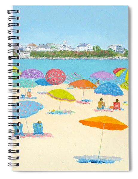 Hampton Beach Umbrellas Spiral Notebook
