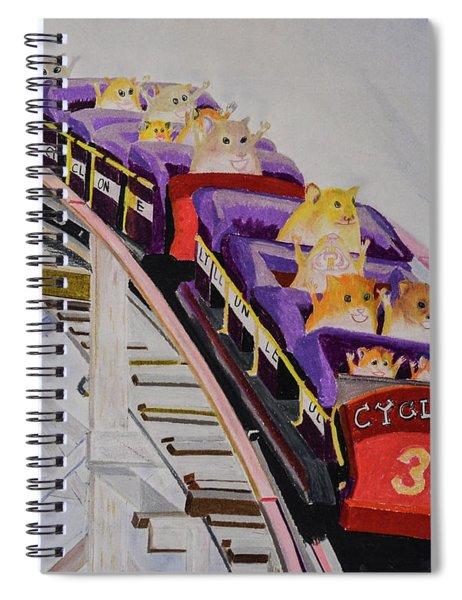 Hamster On Roller Coaster Spiral Notebook