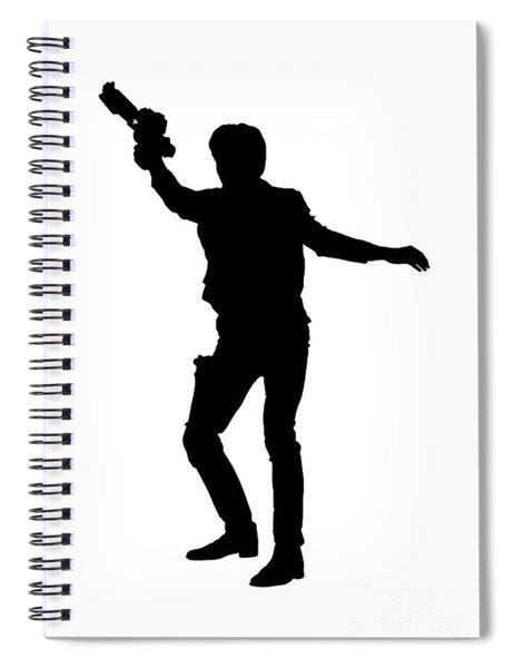 Spiral Notebook featuring the digital art Han Solo Star Wars Tee by Edward Fielding