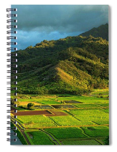 Hanalei Valley Taro Fields Spiral Notebook