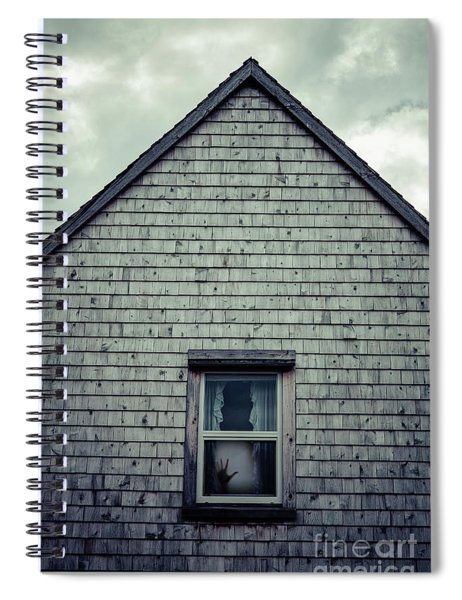 Hand In The Window Spiral Notebook