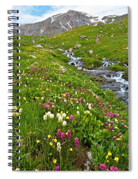 Handie's Peak And Alpine Meadow Spiral Notebook