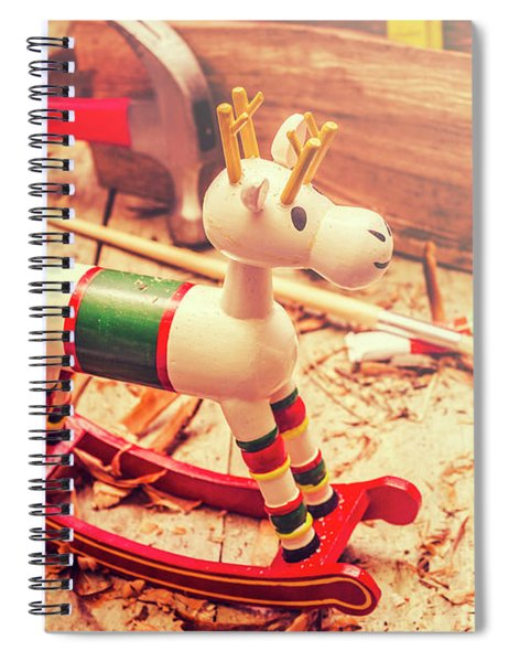 Handmade Xmas Rocking Toy Spiral Notebook