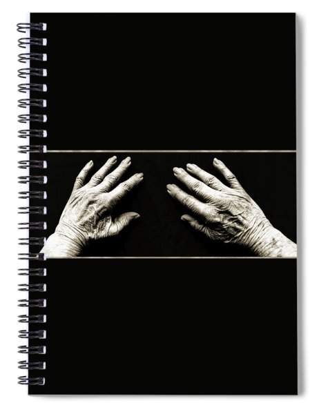 Hands  -  Stark  Reality - Photo  Spiral Notebook