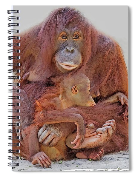 Hands And Feet Spiral Notebook