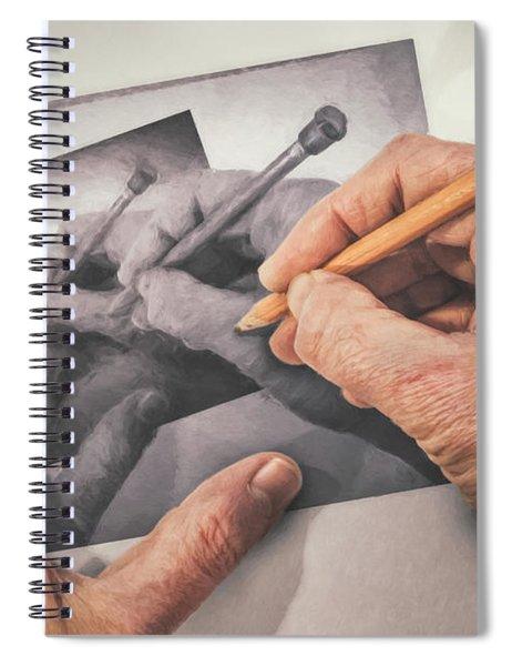 Hands Drawing Hands Spiral Notebook