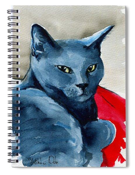 Handsome Russian Blue Cat Spiral Notebook