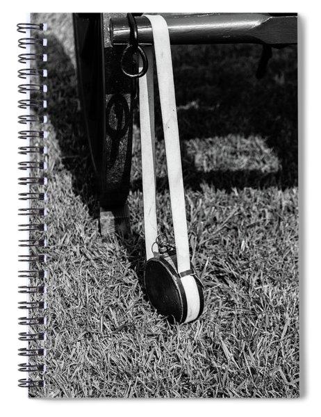 Spiral Notebook featuring the photograph Hanging Canteen by Doug Camara