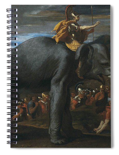 Hannibal Crossing The Alps On Elephants Spiral Notebook
