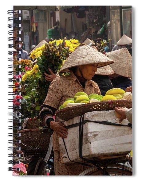 Hanoi Market 02  Spiral Notebook