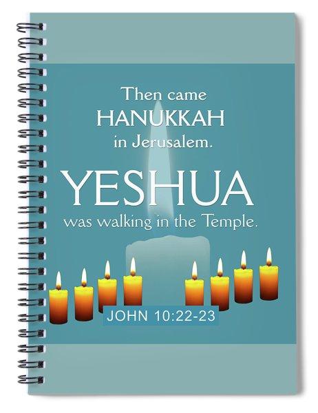Hanukkah And Yeshua Spiral Notebook