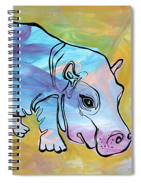 Happily Hippo Spiral Notebook