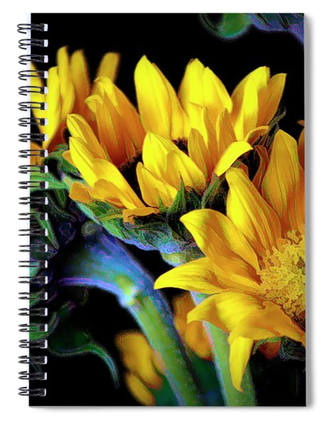 Happiness Is Sun Flowers Spiral Notebook