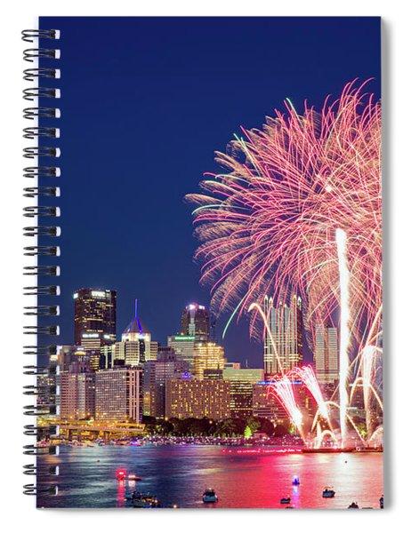 Happy 4th  Spiral Notebook