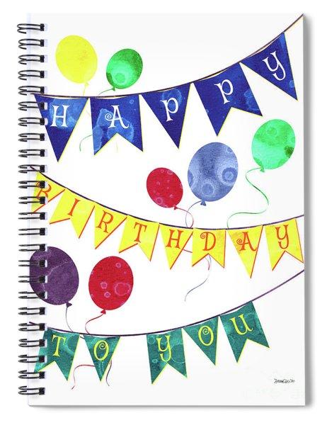 Happy Birthday Flag Spiral Notebook