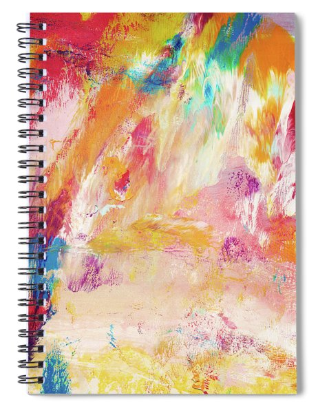 Happy Day- Abstract Art By Linda Woods Spiral Notebook