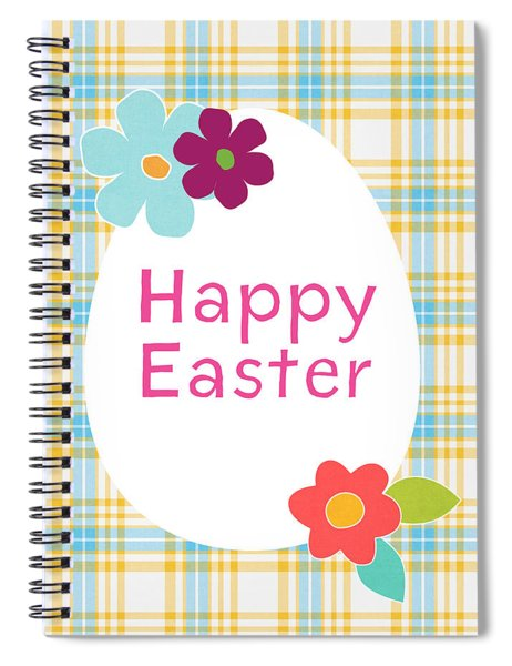 Happy Easter Egg- Art By Linda Woods Spiral Notebook