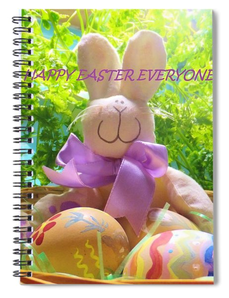 Happy Easter Everyone Spiral Notebook