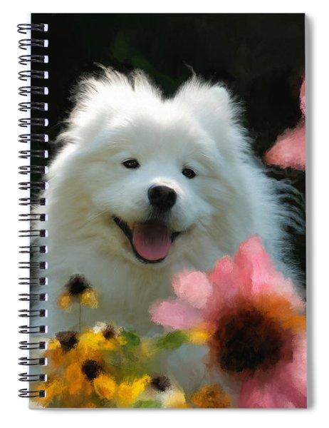 Happy Gal In The Garden Spiral Notebook