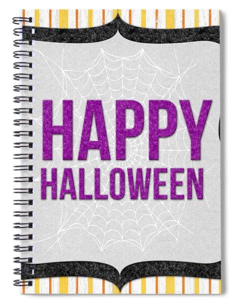 Happy Halloween-art By Linda Woods Spiral Notebook