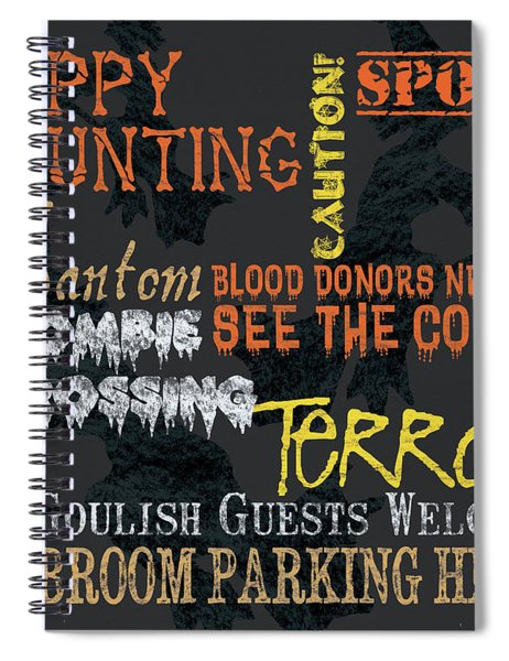Happy Haunting Typography Spiral Notebook