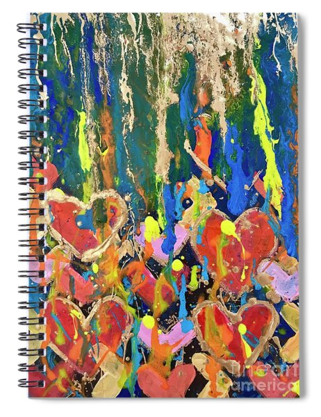 Happy Hearts Spiral Notebook