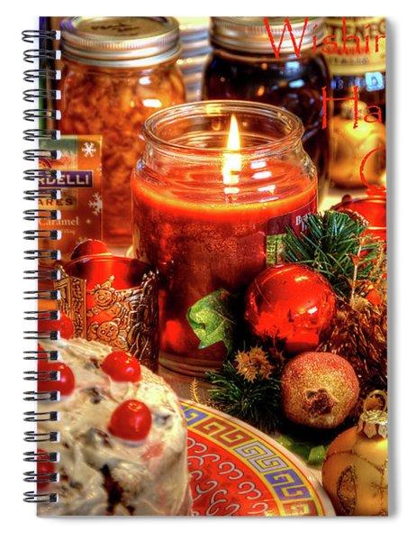 Happy Holidays Spiral Notebook