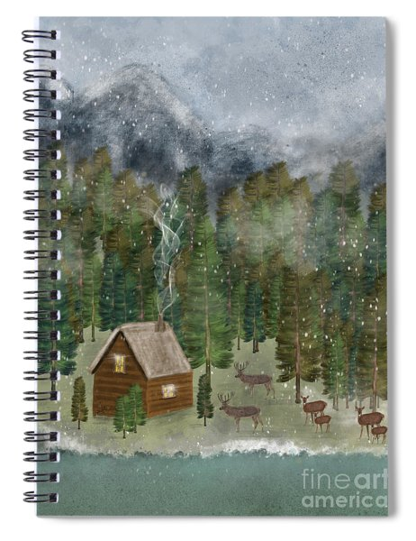 Happy In The Wilderness Spiral Notebook