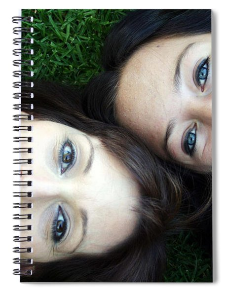 Happy Mom And Daughter Spiral Notebook